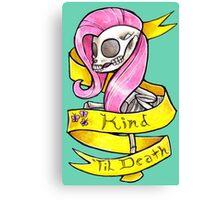 Kind 'Til Death MLP Fluttershy Canvas Print