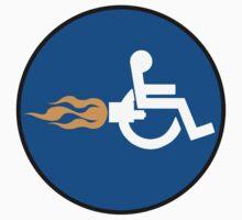 Sign Rocket Wheelchair Kids Tee