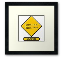 Sign Triangular Distribution Statistics Framed Print