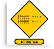 Sign Triangular Distribution Statistics Canvas Print