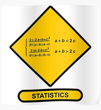 Sign Triangular Distribution Statistics Poster