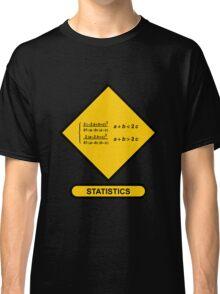 Sign Triangular Distribution Statistics Classic T-Shirt