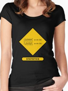 Sign Triangular Distribution Statistics Women's Fitted Scoop T-Shirt
