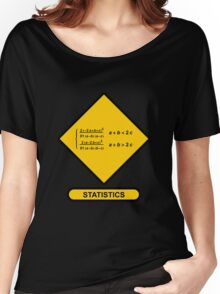 Sign Triangular Distribution Statistics Women's Relaxed Fit T-Shirt
