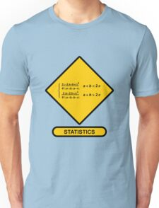 Sign Triangular Distribution Statistics Unisex T-Shirt