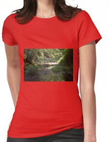 A STREAM IN THE REDWOODS Womens Fitted T-Shirt