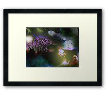 Firefly Moon Framed Print