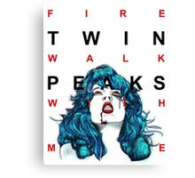 fire walk with me - tv eye Canvas Print