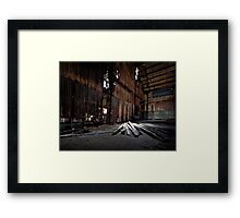 Walls, Light and Timber Framed Print