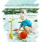 At the beach by Jazzyjane