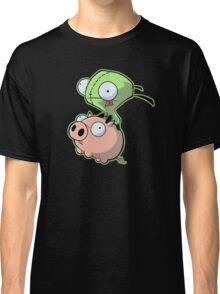 Gir riding his Pig Classic T-Shirt