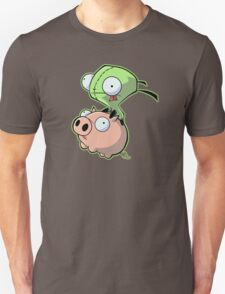 Gir riding his Pig Unisex T-Shirt