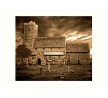 Stormy Church ~ 02 Art Print