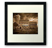 Stormy Church ~ 02 Framed Print