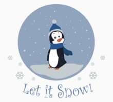 Let It Snow! (Penguin) One Piece - Long Sleeve
