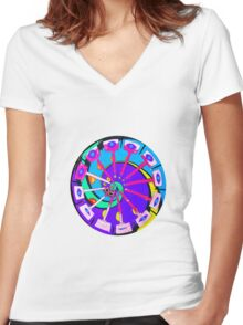 Medication for the Eyes Women's Fitted V-Neck T-Shirt