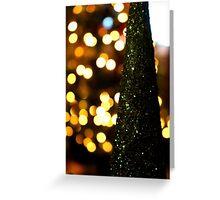 Christmas bokeh Greeting Card