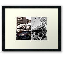Norwalk Elks Lodge #2142; Car Show Collaboration Framed Print