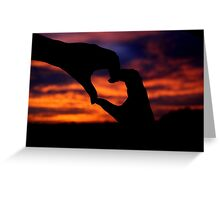 I love sunsets 2 Greeting Card