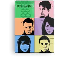Torchwood Pop Art Metal Print
