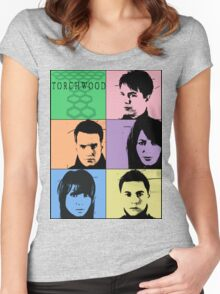 Torchwood Pop Art Women's Fitted Scoop T-Shirt