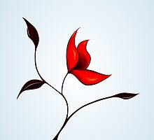 Strange Red Flower by Boriana Giormova