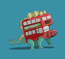 Stegosau-bus by pencilfury