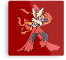 Blaziken With Fire Kanji Metal Print