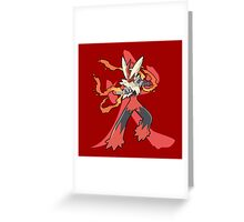 Blaziken With Fire Kanji Greeting Card