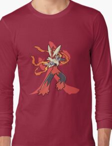 Blaziken With Fire Kanji Long Sleeve T-Shirt
