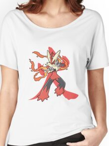 Blaziken With Fire Kanji Women's Relaxed Fit T-Shirt