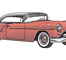 1954 Oldsmobile 88 Holiday Coupe by surgedesigns