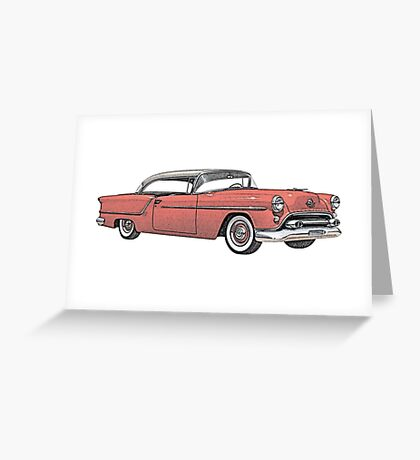 1954 Oldsmobile 88 Holiday Coupe Greeting Card