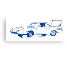 Plymouth Dodge Superbird Road Runner Canvas Print