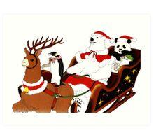 Shirokuma Cafe, Holiday Spirit! Art Print