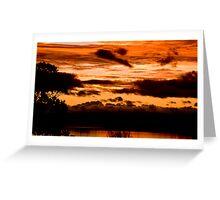Sunset on Taupo lake  Greeting Card