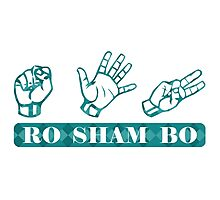 Ro Sham Bo - Rock Paper Scissors Photographic Print