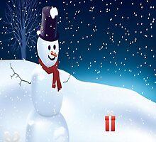 Mister Snowman  by fonzyhappydays