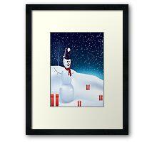 Mister Snowman  Framed Print