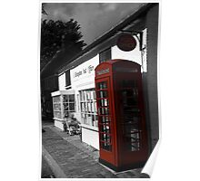 Telephone Box - willingdon Post Office Poster