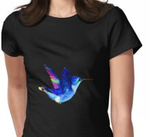 Colorful Hummingbird Womens Fitted T-Shirt