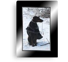 River's Snow Portrait Canvas Print