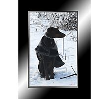 River's Snow Portrait Photographic Print