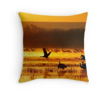 Magic Bosque Morn Throw Pillow