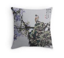 Spring Birdsong Throw Pillow