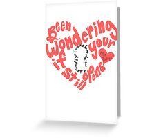 Do I Wanna Know: Keyhole Heart Greeting Card