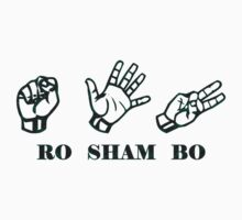Ro Sham Bo - Rock Paper Scissors Kids Tee