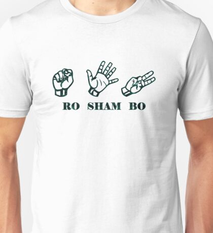 Ro Sham Bo - Rock Paper Scissors Unisex T-Shirt