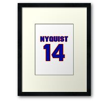National Hockey player Gustav Nyquist jersey 14 Framed Print