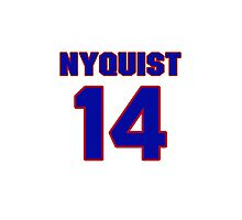 National Hockey player Gustav Nyquist jersey 14 Photographic Print